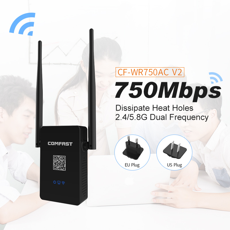 Comfast 750 Mbs 802 11AC Dual Band Wireless WIFI Router Repeater CF 750AC v2 Extender
