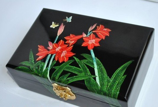 New arrival ,  orchid jewelry box / make up box / cosmetic case with high quality ,free shipping