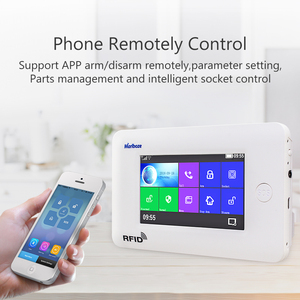 Image 3 - Marlboze Wireless Home Security WIFI GSM GPRS Alarm system APP Remote Control RFID card Arm Disarm with color screen SOS button