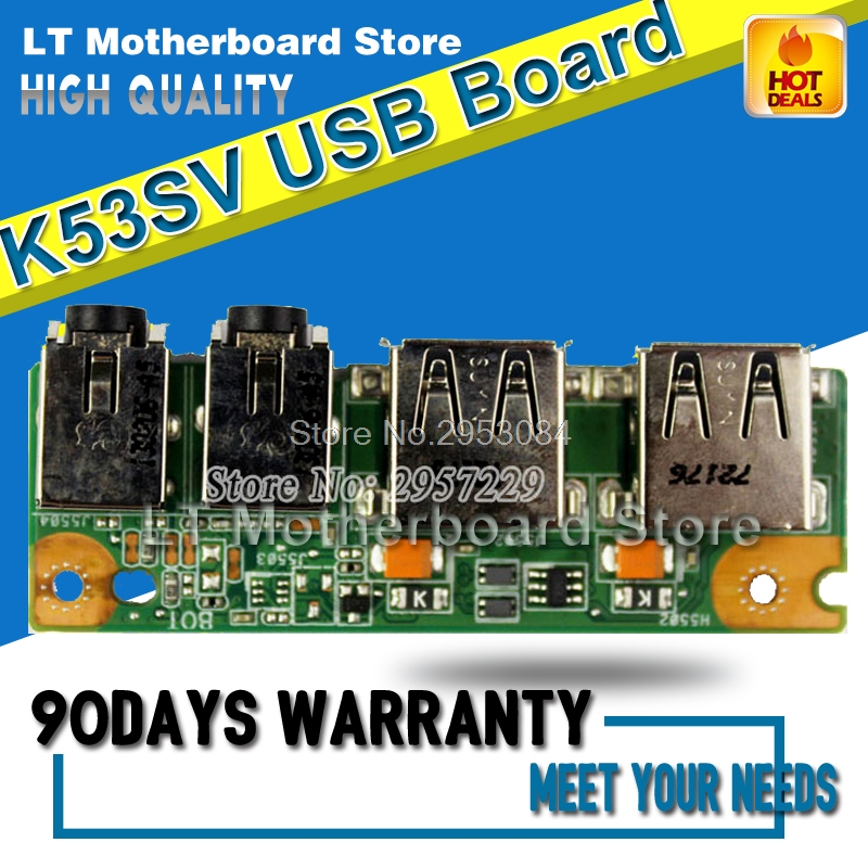 For ASUS K53 K53S K53SJ P53S P53SJ IO USB Audio Jack Board 69N0KBB10F01-01
