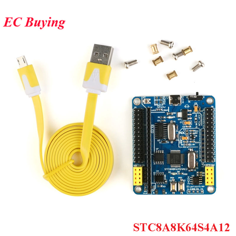 STC8A8K64S4A12 Development Board 51 System Board MCU Development Board STC15 Upgrade Competition Board Diy Electronic