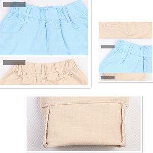 Image 5 - 4 18T chłopięce spodnie Casual Solid 100% bawełna proste spodnie dla chłopców elastyczny pas dzieci chłopiec spodnie 110 180 wysokiej jakości