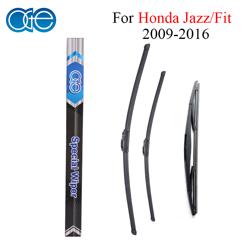 Oge Front And Rear Wiper Blades For Honda Jazz Fit 2009 2010 2011 2012 2013 2014 2015 2016 Windshield Rubber Car Accessories sumks wiper blades for honda insight 26
