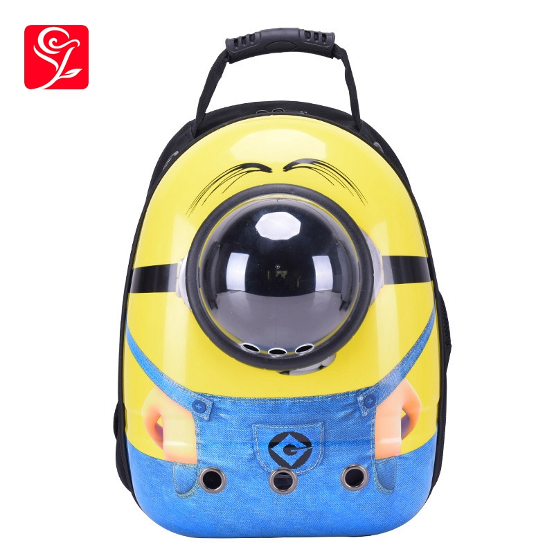 Astronaut Cat Puppy Rucksack Dog Carrier Yellow Breathable Mochila Kitty Portable Mochila Box Cartoon Space Capsule Pet Backpack
