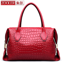 ZOOLER superior cowhide leather woman bag luxury leather handbags top handle Classic bags designed bolsos#3211