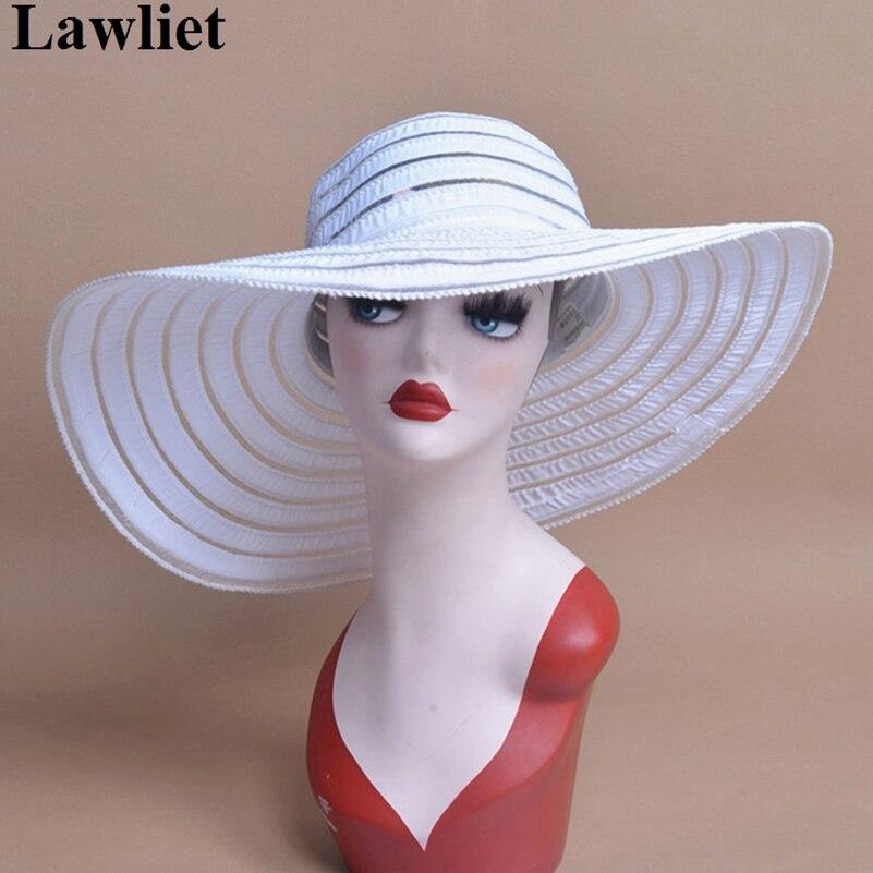 2017 Fashion Wide Brimmed Sun Summer Kentucky Derby Hats for women LadiesCap Beach Floral Sun Caps Seaside sun visor hat A269