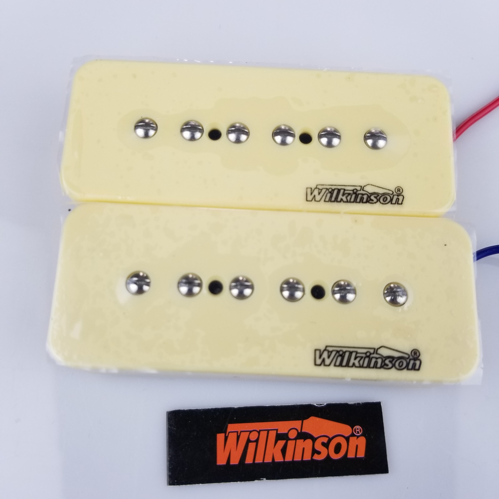 New Wilkinson MW90 1Set 2 Pcs Cream P90 Soap bar Single Coil Neck and Bridge Electric Guitar Humbucker Pickups niko 50pcs chrome single coil pickup screws