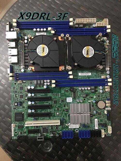 X9DRL-3F prend en charge la mémoire DDR3 de la carte mère E5-2680 V2 dual x79 avec le double port réseau à distance utilisé 90% nouveau