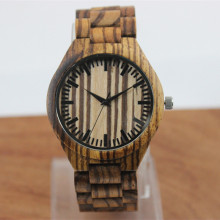 Fashion Brand Men's Wristwatches With Zebra Wooden Straps For Best Gift Dress Luxury Watch And Beautiful Box все цены