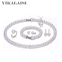 YIKALAISI 2017 100% natural Freshwater Pearl necklace jewelry sets 925 sterling silver jewelry pearl for women weddings gift
