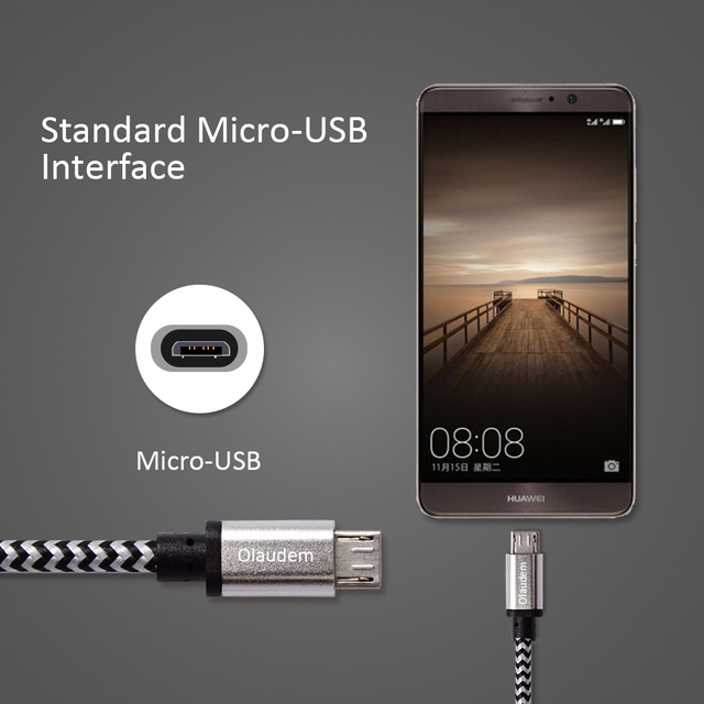 Olaudem Cable Charging USB Micro USB Cables Charger Data Cord Charge Wire For Samsung Huawei charging Mobile Phone Cables CB029