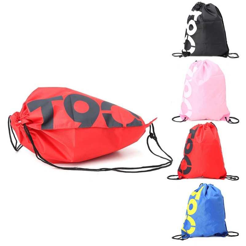 THINKTHENDO אופנה חדש תרמיל קניות שרוך שקיות עמיד למים נסיעות חוף נעלי חבילה