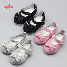 1pair Sapphire Doll Shoes For 18 Inch American Girls Small Shoes Girls DIY Dress Up Doll