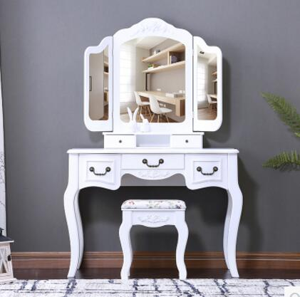 Dresser.. The bedroom white makeup table dresser small family dresser and desk the bedroom clamshell economical multifunctional table