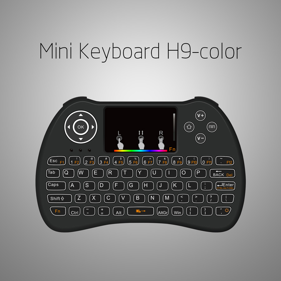 H9 wireless mini keyboard with RGB color backlight (11)