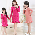 Mother Daughter Matching Dresses Family Look Clothing Spring Autumn Fishtail Casual Vestido Long Sleeve Mom And Daughter Clothes