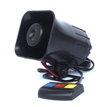 12V 110Db 30W Motorcycle Car Auto Vehicle Truck 3 Sound Tone Loud Horn Siren Police Firemen Ambulance Warning Alarm Loudspeaker