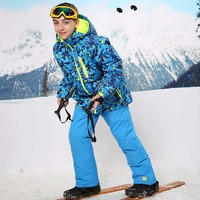 Mioigee 2019 Winter Children Sets Baby Boys Ski Suit Outdoor Windproof Sport Suits Kids Ski Jacket+Bib Pants Sets Kids Clothing