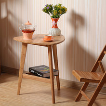Selling bamboo flower wood simple desk computer desk, small tea table outdoor leisure corner table furniture office table(China)