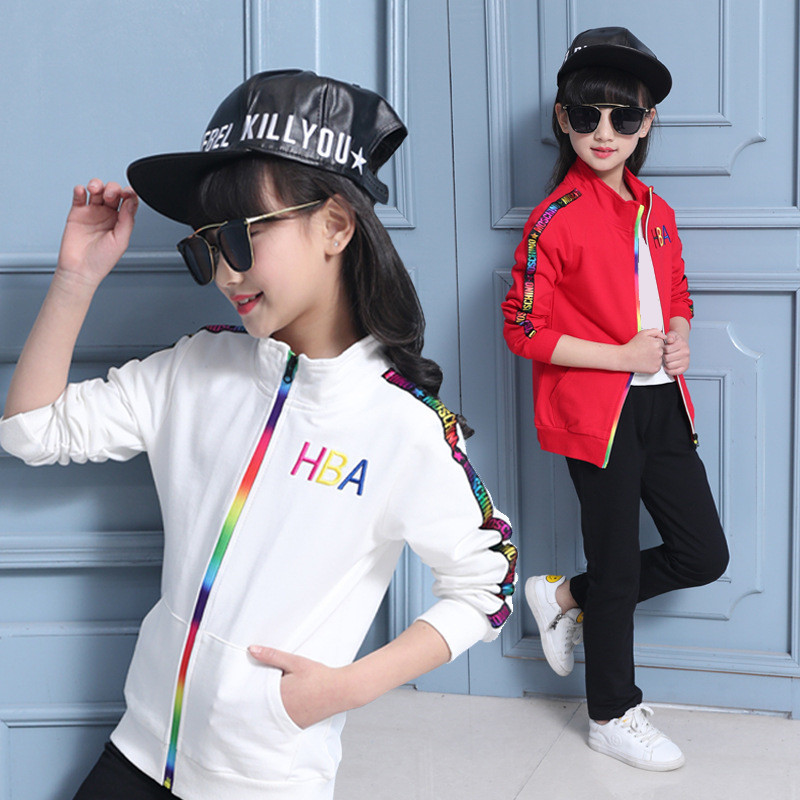Autumn Girl Coat + Pants Two-piece Set Baby Tracksuit Casual Kids Clothes Toddler Children Clothing Vetement Enfant Girls Suit