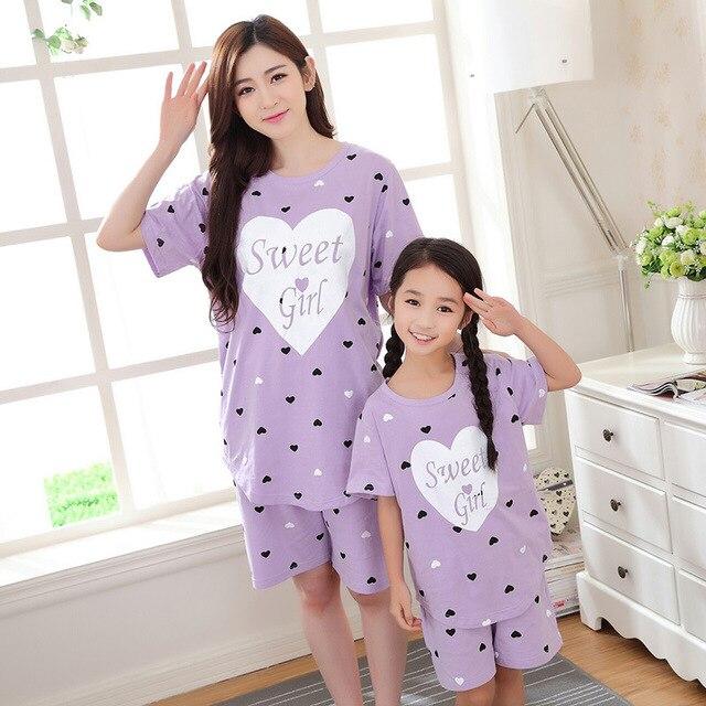 2017 семья посмотрите соответствия мать дочь одежда пижамы семья clothing набор костюм pijamas дети хлопок мама и я одежда