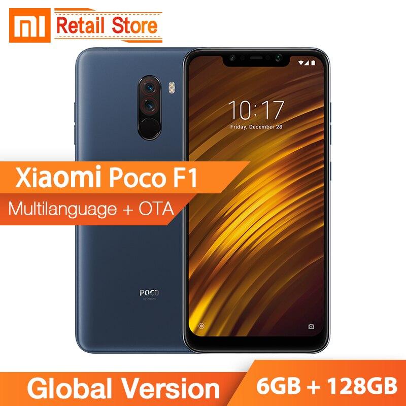 US $315 99 |Global Version Xiaomi POCOPHONE F1 6GB RAM 128GB ROM Snapdragon  845 6 18'' Dual Camera Full Screen Smartphone 4000mAh POCO F1-in Mobile