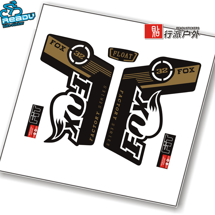 New Stickers Bike Carbon Frame Fork Sticker Fox 32 Front Forks