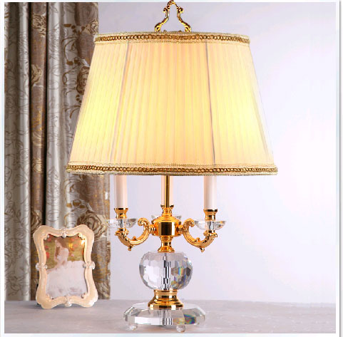 Fashion luxury modern 3 lamp high quality luxury crystal table lamp modern crystal table light 100% K9 Grade A crystal table luxury 100