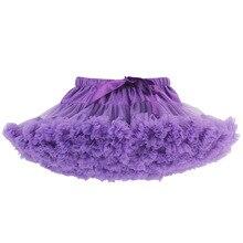 Юбка-пачка для девочек фиолетовый балетный бальный наряд, детская одежда детская юбка-пачка, рождественский подарок, юбки для танцев Saias tutu falda meninas