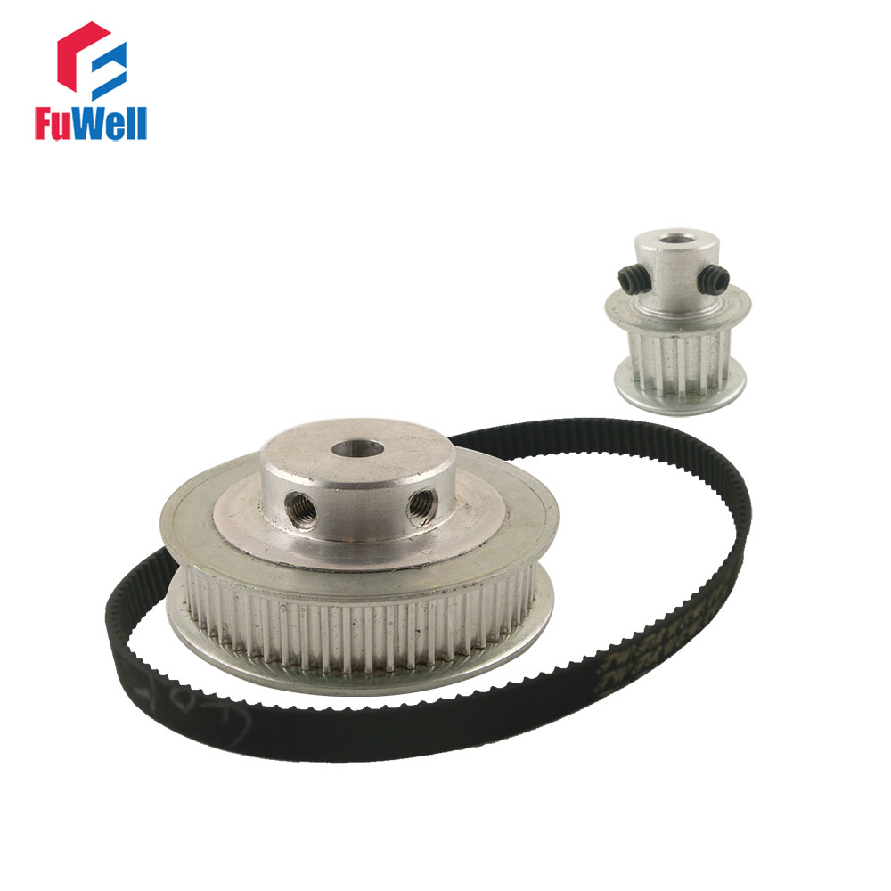 HTD 3M Reduction Timing Belt Pulley Set 15T:60T 1:4/4:1 Ratio 96mm Center Distance Timing Pulley Gear Kit Shaft Toothed Pulley все цены