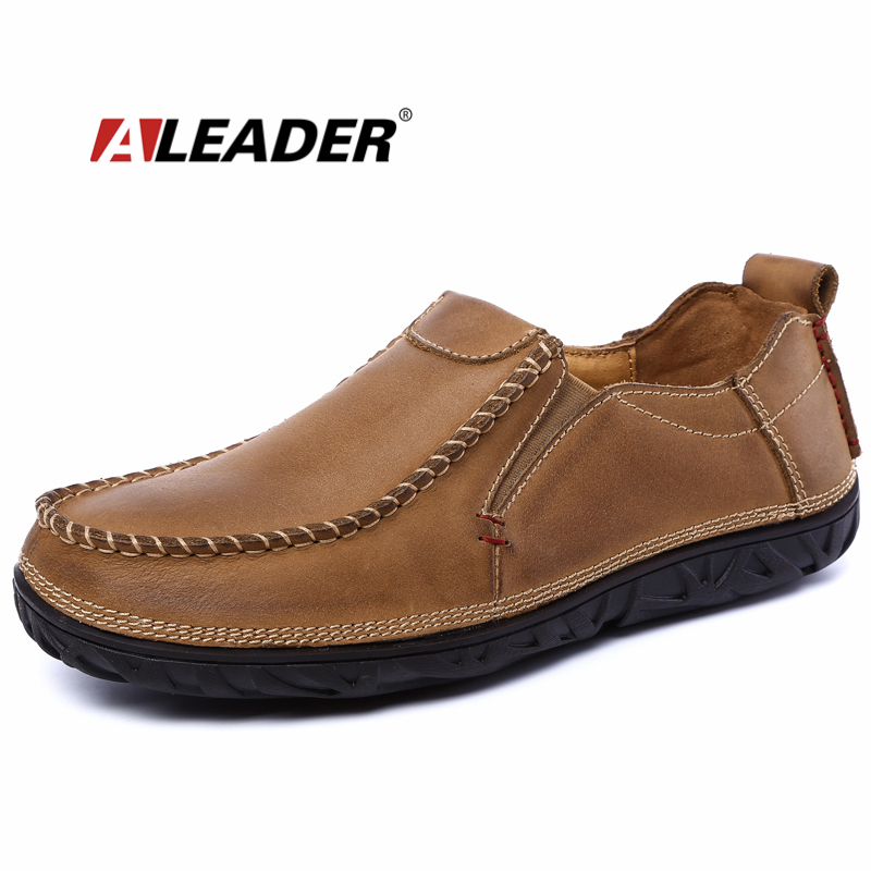 Genuine Leather Mens Shoes Casual Slip On Loafers 2017 Autumn Driving Shoes Oxfords for Man Flat Dress Shoes Men Loafers zapatos mens casual leather shoes hot sale spring autumn men fashion slip on genuine leather shoes man low top light flats sapatos hot