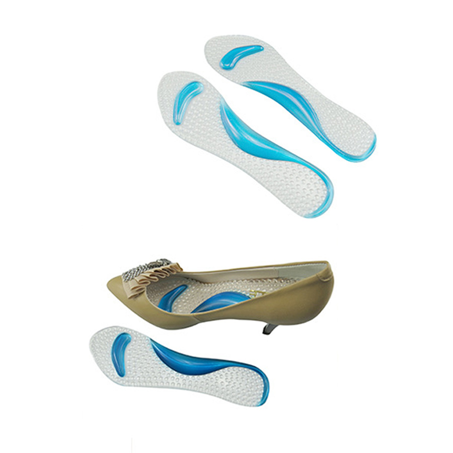 1Pair Soft Gel Insole 3/4 Lady Shoe Pad With Non-Slip Arch Support - Penjagaan kesihatan - Foto 3
