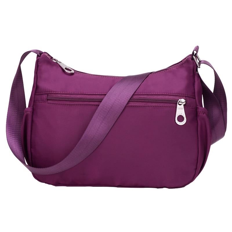 2018 Women Waterproof Nylon Light Casual Bags Female Shoulder Crossbody Messanger Bags Colorful Travel Bag