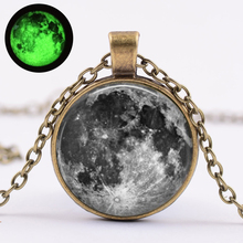 Glow In The Dark Gray Moon Glowing Pendant  Necklace Jewelry Unique Night and Moon Gift for Men and Women 18 5 dark gray and light gray and white and transparent holographic rear projection film