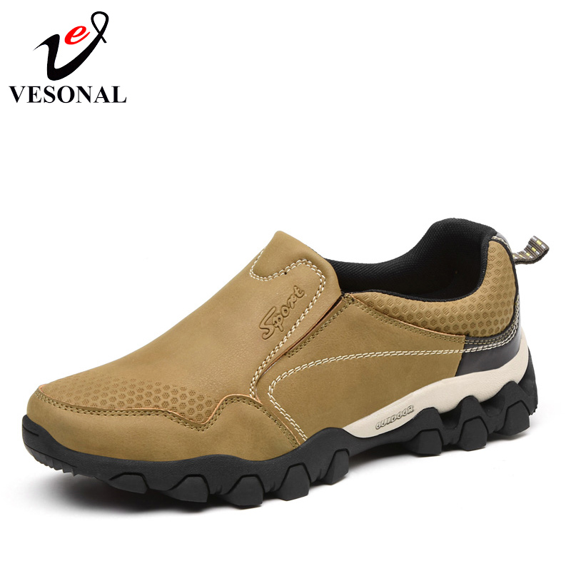 VESONAL Spring Quality Genuine Leather Slip On Sneakers Shoes For Men Driving Loafers Walking Designer Comfortable Footwear 2018 vesonal 2017 quality mocassin male brand genuine leather casual shoes men loafers breathable ons soft walking boat man footwear