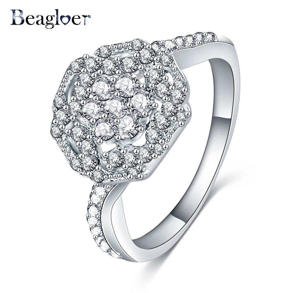 Unique Engagement Rings For Women: Beagloer 2016 Unique Design Rings Silver Color AAA