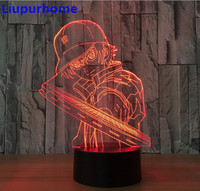 ECHIZEN RYOMA 3D Night Light LED Tennis Prince Anime Lamp Illusion Table Lamp 7 Color Changing
