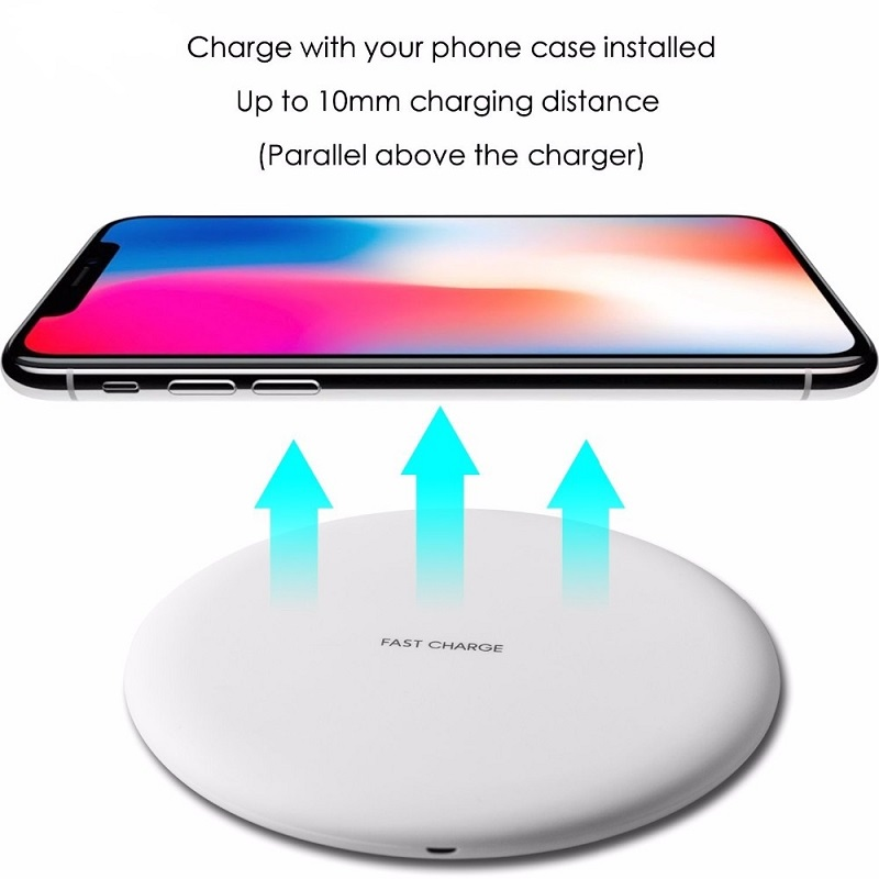 Image 4 - DASENLON Wireless Charger, Qi Fast Charging Wireless Pad for All Wireless Charging Enabled Phones-in Mobile Phone Chargers from Cellphones & Telecommunications