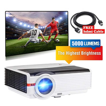 CAIWEI  LCD LED Projector 5000LM 1080p Video Best Home Cinema Proyector Mobile Projectors USB TF HDMI AV 1280×800