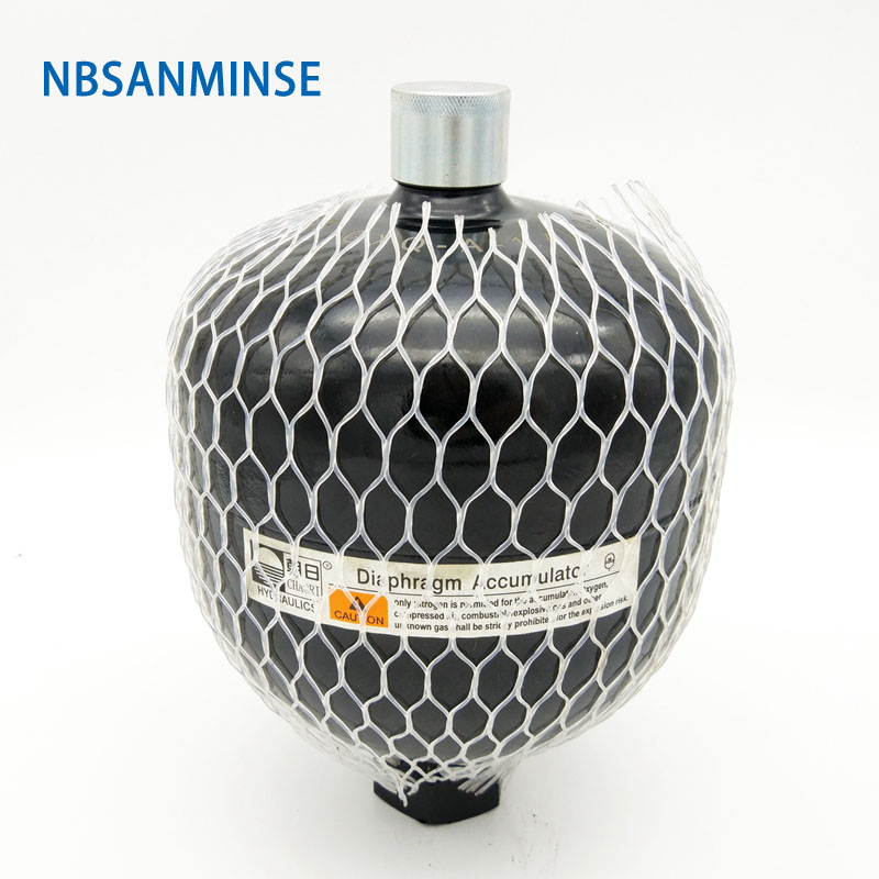 NBSANMINSE GXQ 1 4L 2 8L Diaphragm Accumulator Laser Welding High Pressure Vessels Flexible Diaphragm For Hydraulic power unit in Pneumatic Parts from Home Improvement