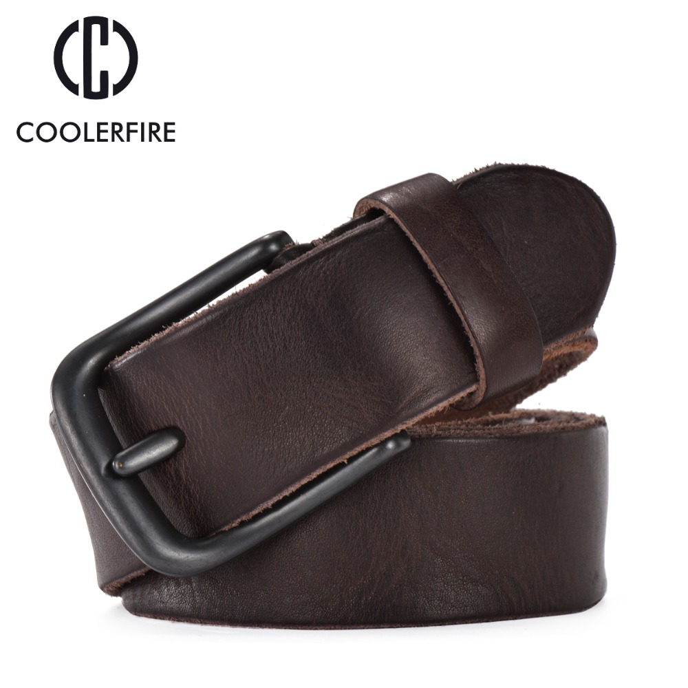 Rugged full grain leather   belt   man casual vintage   belts   men genuine vegetable tanned cowhide original strap male girdle TM007