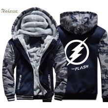 The Big Bang Theory Hoodie Men FlashHooded Sweatshirt Coat 2018 Winter Warm Fleece Thick Zipper TV Show Funny Jacket Mens