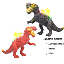 6630 electric spiny dragon simulation electric dinosaur model will walk Luminescence Sound toy for c