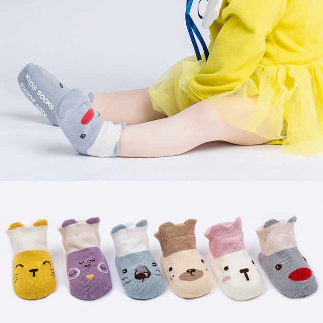 Kids Infant Toddler Baby Boys Girls Cartoon Animals Anti-Slip Knitted Warm Socks New Arrival Dropshipping