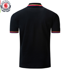 Image 2 - Fredd מרשל 2019 חדש דגל רקמת חולצת פולו גברים 100% כותנה קצר שרוול עסקי מזדמן מוצק צבע מותג פולו חולצה 039