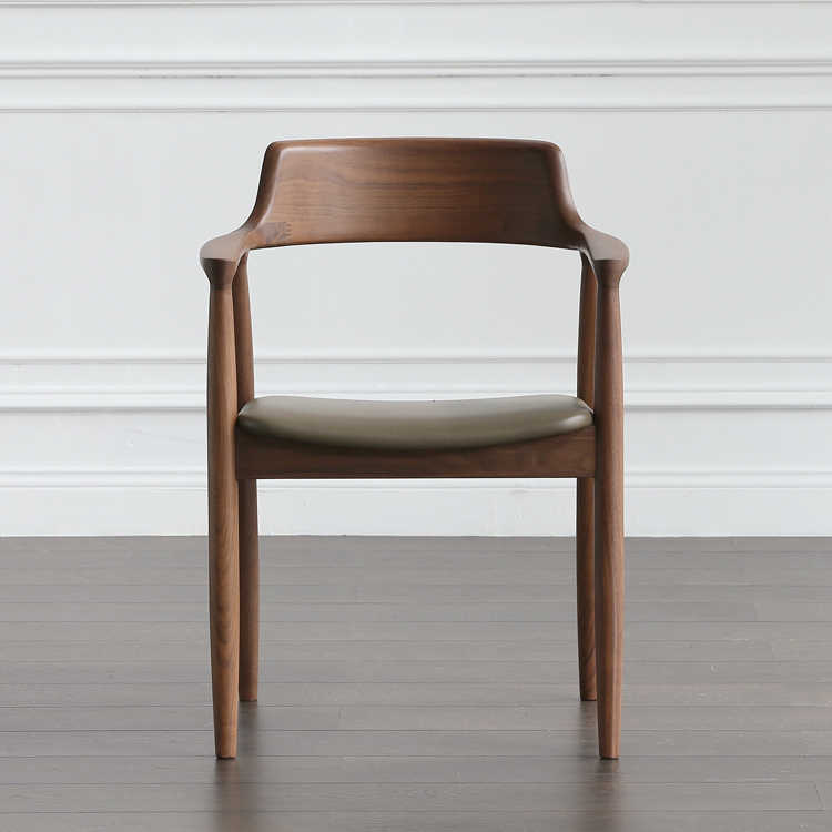 Nordic Wooden Chair Hiroshima Chair Designer Chair President Chair