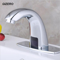 Sense Faucet Chrome Polished Basin Quick Open Touchless Faucet Kitchen Hot and Cold Automatic Taps ZR1002