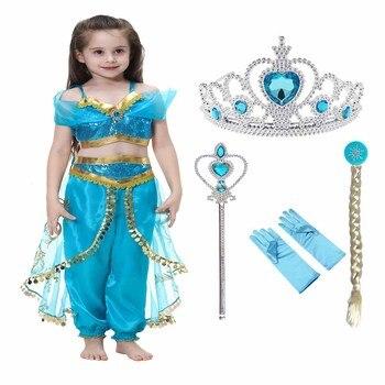 7038199cc 2017 vestidos de princesa Belle para Niñas Ropa de disfraz para niños  Cenicienta Rapunzel dormir ...