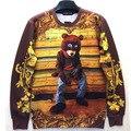 Прохладный Kanye West Футболка Отключения Медведь Обложка Альбома Шаблон Печати Балахон Смешно Crewneck 3D Пуловеры Для Мужчин Женщин Любителей Топы