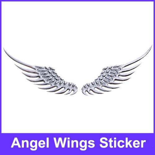 3d Angel Wings Chrome Emulational Car Logo Symbol Mark Signs